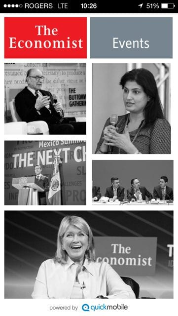 ECN 032014_NTL_QuickMobile brings first event apps to The Economist Events