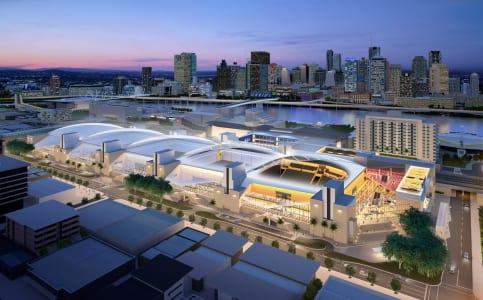 Brisbane Convention and Exhibition Center goes green for month of April.
