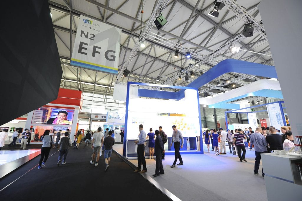 Raised floors differentiated the Asian version of International CES from the original U.S.-based show.