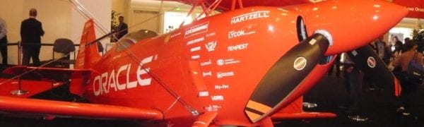 oracle-plane-on-display-on-the-trade-show-floor