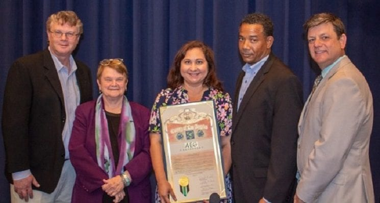 AEG Facilities at the LACC Honored with L.A. County Green Leadership Award