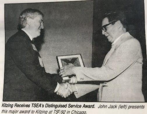 KITZING TSEA DISTINGUISHED SERVICE AWARD 1992