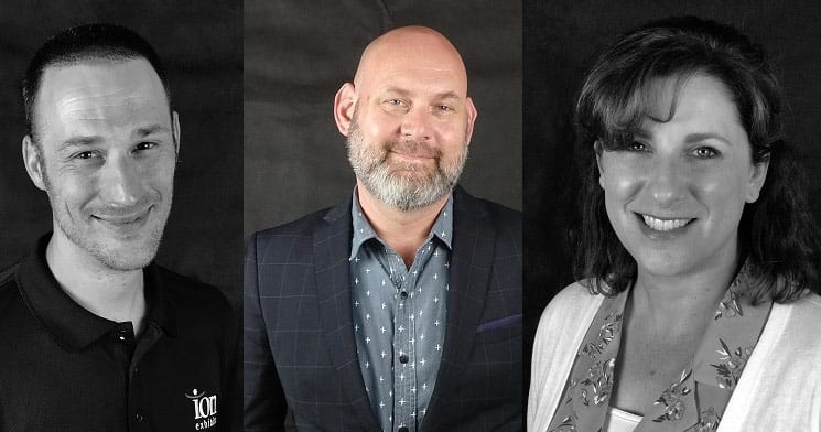 ION Exhibits Welcomes Brandon Petersen, Tim Artz & Becky Rovik