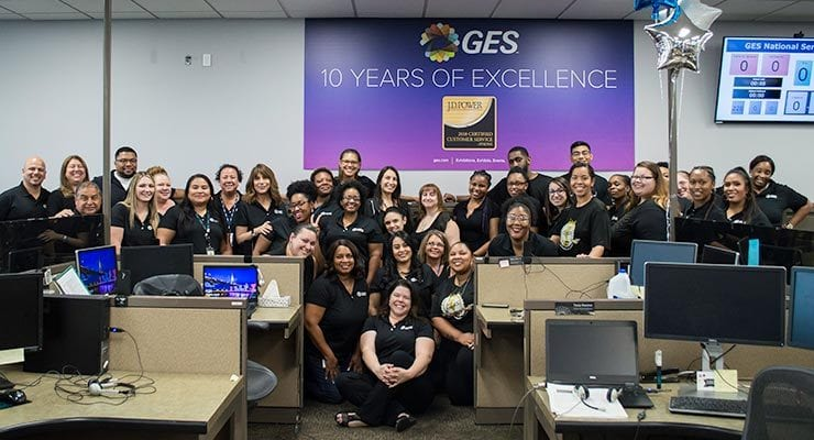 GES Achieves J.D. Power Certification for Tenth Year in a Row
