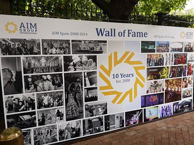 AIM-Intl-10-Year-Madrid-Party-pix-3-Wall-of-Fame-