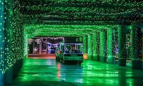 Glittering lights Santa Tram