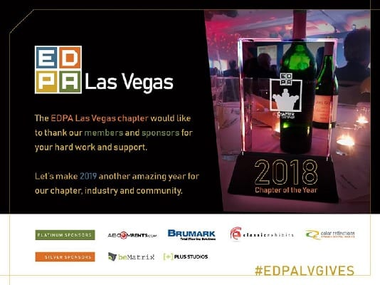 EDPA LV Chapter of the Year 2018 award