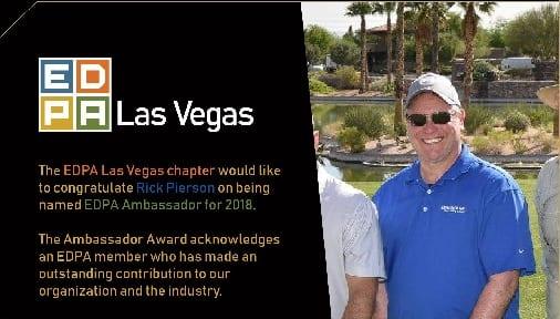EDPA LV Rick Pierson 2018 Ambassador award