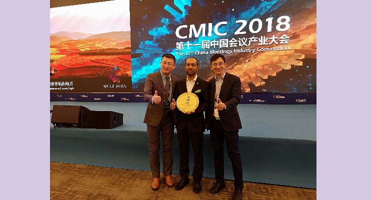 Noor Ahmad Hamid Receives Chinese MICE Award