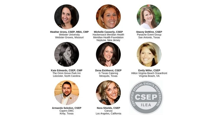 ILEA Recognizes Eight Certified Special Events Professionals (CSEPs)