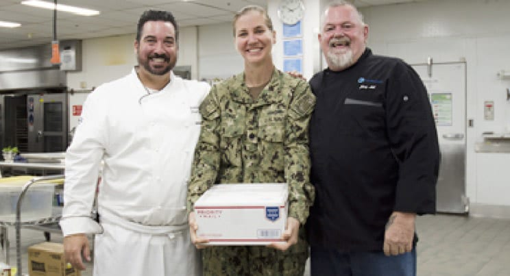 Centerplate Culinary Team Donates Cookies Year-Round to Naval Troops