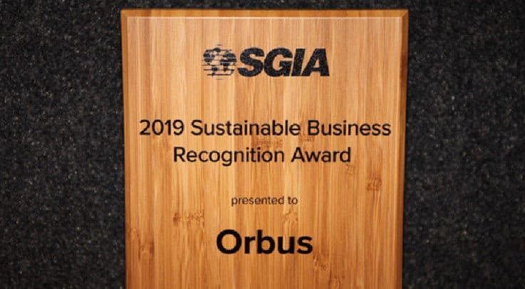 Orbus Receives SGIA Sustainable Business Award