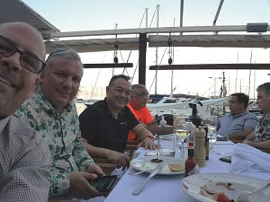 IFES-8-pax-at-dinner-from-6-countries---
