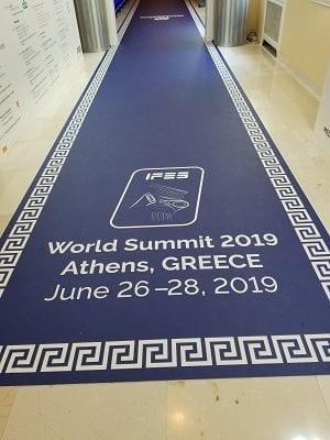 IFES carpet provided by sponsor