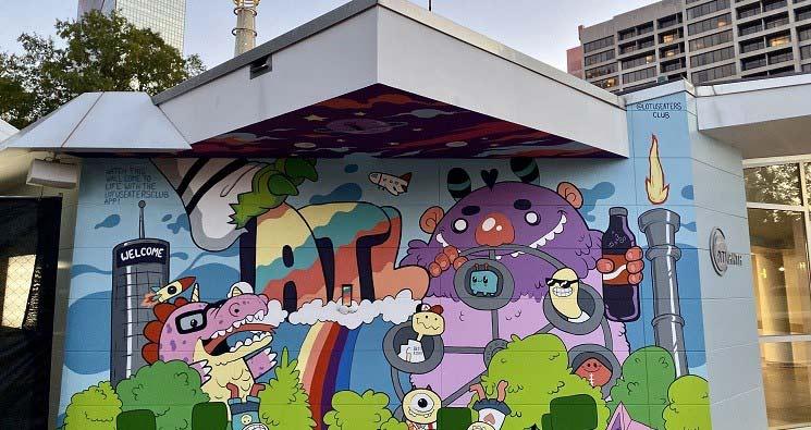 Atlanta Visitor Center Displays Interactive Mural