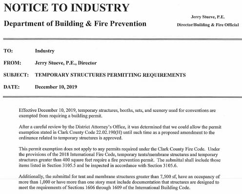 12.10.19 Temporary Booths Exemption letter from Jerry Stueve cropped