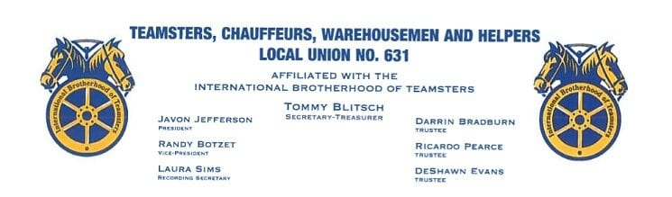 Teamsters Local 631 stationary letterhead