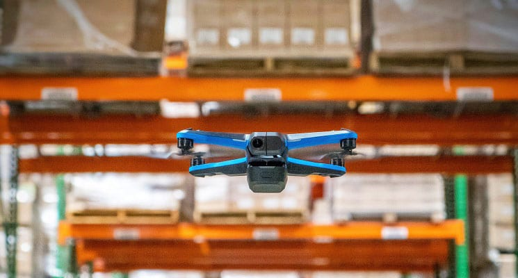 Drones Keeping Track of Warehouse Inventory