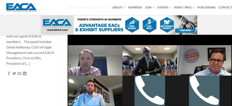 EACA Weekly Zoom Meeting on COVID-19 Crisis to Discuss Current Initiatives
