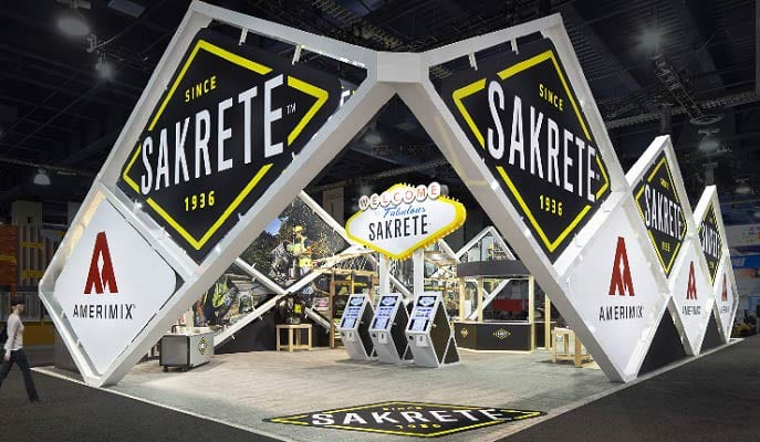 "The Wow Booth: Blue Sky Combines ""Intriguing, Exciting, Rustic, Industrial & Modern"" for Sakrete at World of Concrete Show"