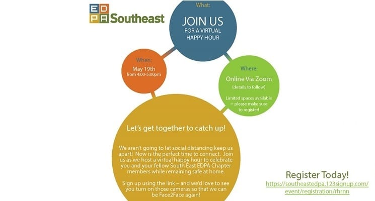 EDPA SE to Hold Its First Zoom Happy Hour on May 19
