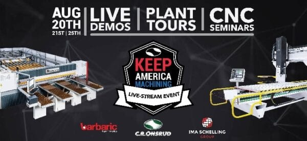 Keep America Machining Offers Free Live Streams of Machines in Action Aug. 20-Sept. 15