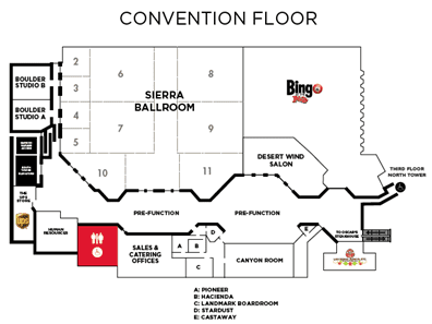 LV Plaza convention floor map