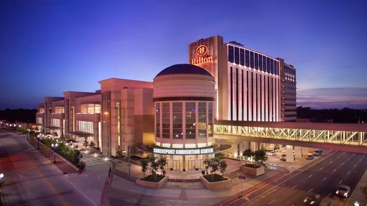 Shreveport Convention Center Exterior Night