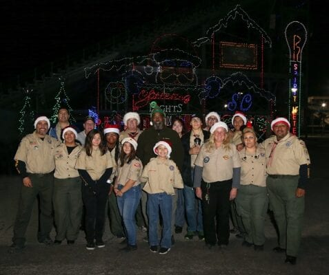 2019 Boy Scouts at Glittering Lights