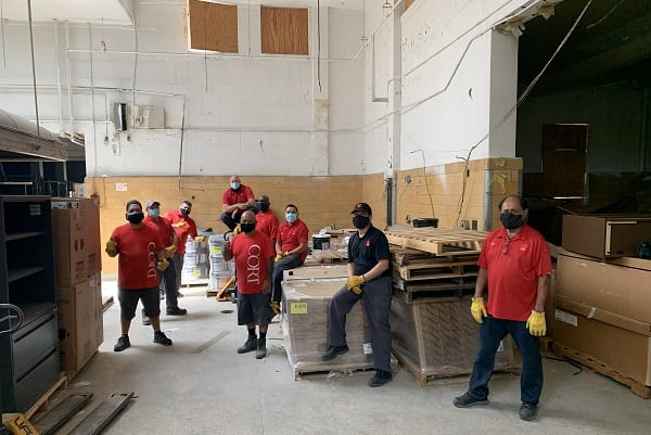 CORT Events Volunteers Delivery Service on Veteran Housing Project
